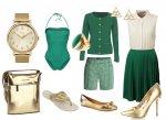 Wiosenne stylizacje, zieleń i złoto